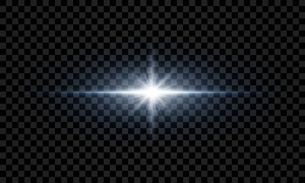 Light effects on a transparent background.