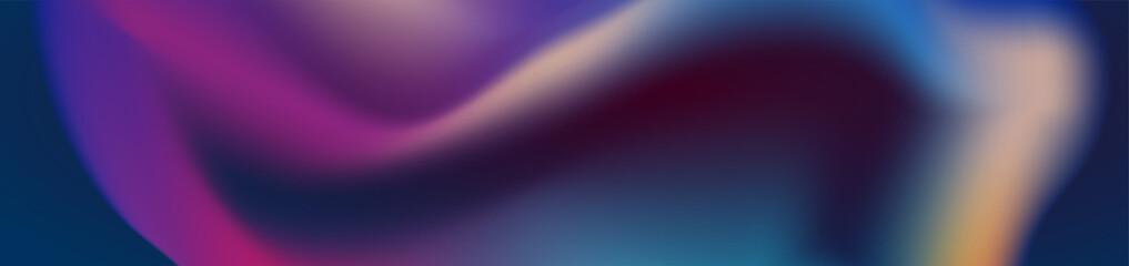 Abstract dark smooth liquid waves futuristic web banner design. Blurred fluid wavy background. Vector illustration Wall mural