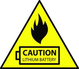 Obraz lithium ion battery Caution - fototapety do salonu