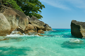 Türaufkleber Reef grun Insel Thailand