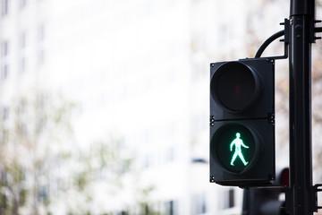 Green traffic light Wall mural