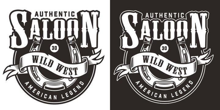 Vintage wild west logo