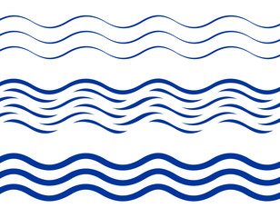 Printed kitchen splashbacks Abstract wave Set of waves patterns, flat style