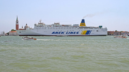 Anek Lines Passing Venice Italy