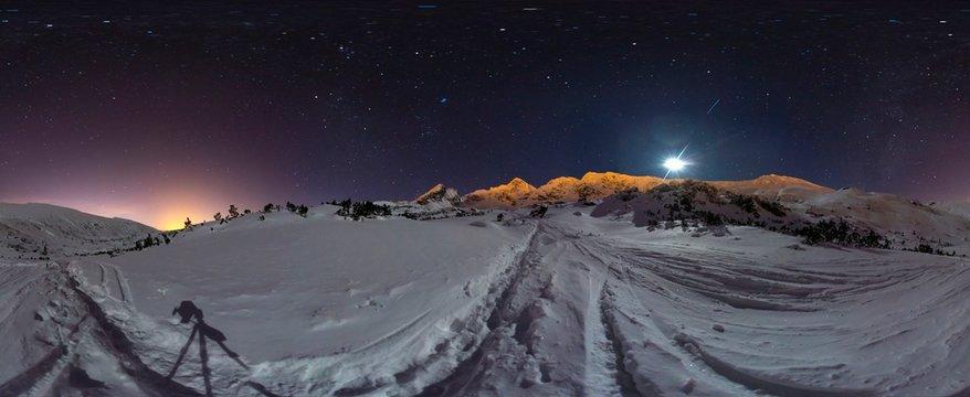 Tatra Mountains in winter - 360 Panorama