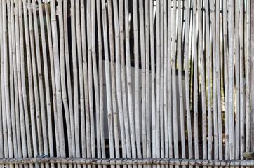 vieux mur en bambou