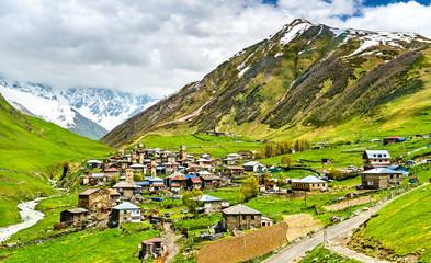 Ushguli village with Svan towers - Upper Svaneti, Georgia Wall mural