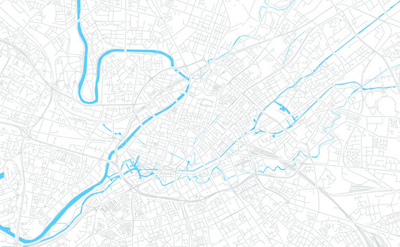 Manchester, England bright vector map