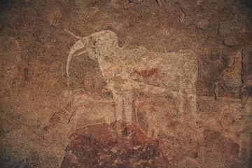 white Elephant paining  Philips cave  Namibia