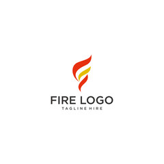 creative fire logo design inspiration. vector illustration