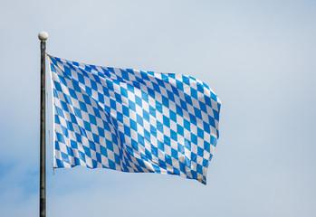 Bavarian flag and blue sky