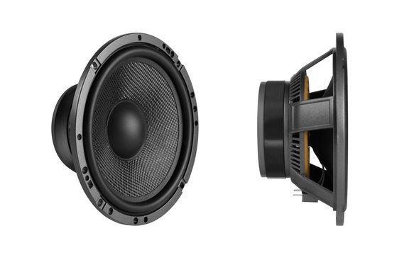 car audio speaker isolated on white