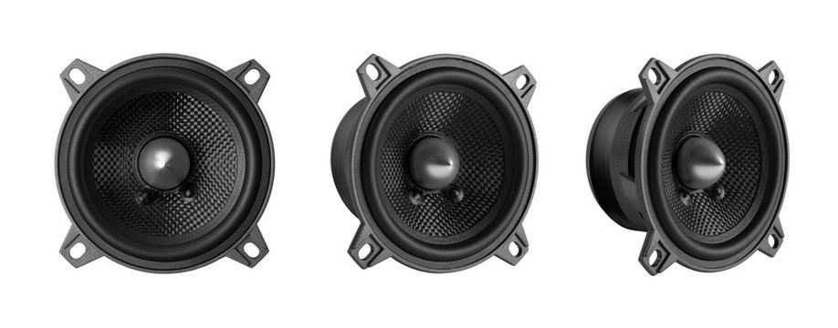 car audio speaker isolated on white