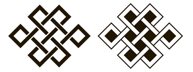 Set of celtic knots. Traditional celtic ornament elements isolated, design black and white. Vector illustration