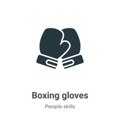 Boxing gloves glyph icon vector on white background. Flat vector boxing gloves icon symbol sign from modern people skills collection for mobile concept and web apps design.
