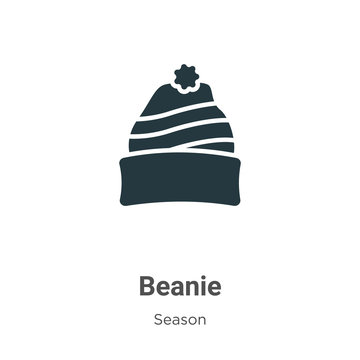 Beanie glyph icon vector on white background. Flat vector beanie icon symbol sign from modern season collection for mobile concept and web apps design.