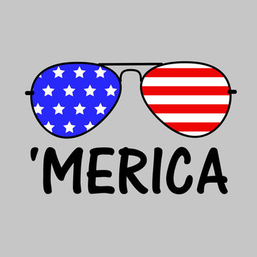 Patriotic Merica Sunglasses  Independence day