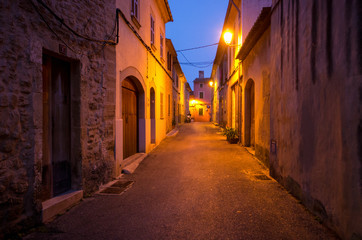 Streets of Acludia during the night, Mallorca