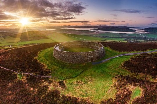 Grianan of Aileach ring fort, Donegal - Ireland