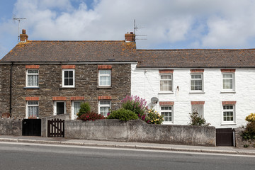 Wall Mural - Old English traditional stone cottage