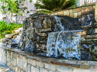 Waterfall Sidewalks River Walk San Antonio Texas