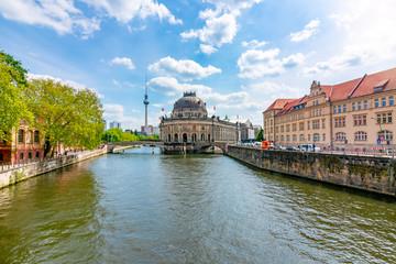 Fotobehang Museum island and Spree river, Berlin, Germany