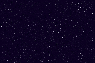 Seamless pattern with space graphic elements on dark background. Decorative starry backdrop