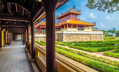 Views on Imperial Royal Palace Hue, Vietnam Wall mural