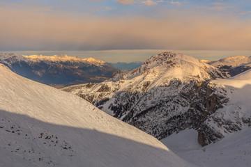 Fototapete - winter mountain landscape. Innsbruck, Austria