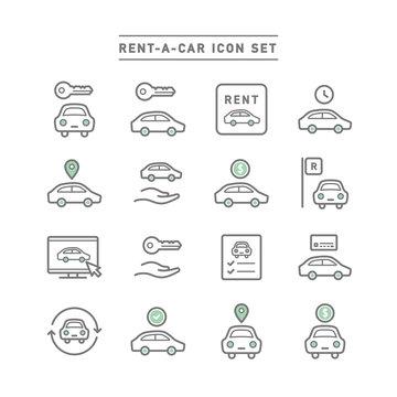RENT-A-CAR ICON SET