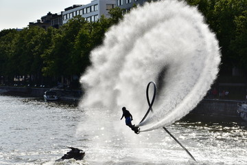 Flyboard extreme sport