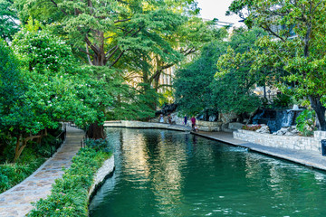 Tourists River Walk San Antonio Texas