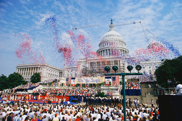 Celebration at the Capitol building, Washington, DC
