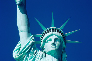 Head and partial arm of Statue of Liberty