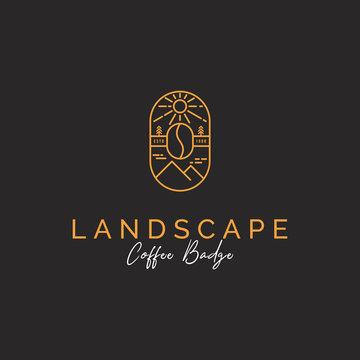 mountain and coffee logo badge inspiration