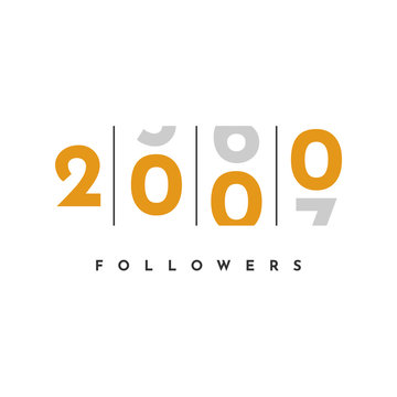Thank You 2000 Followers Template Design