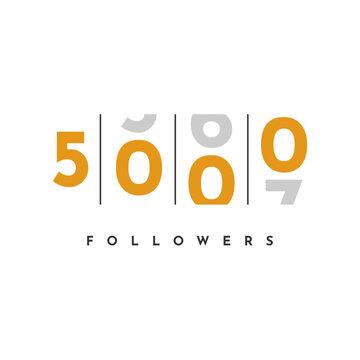 Thank You 5000 Followers Template Design