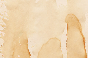 Vintage and old looking coffee cup stain background. Painted with a tea retro texture. Grunge paper...