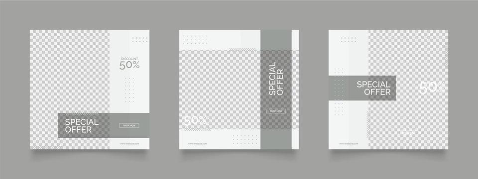 social media post template for digital marketing and sale promo. fashion advertising. banner offer. promotional mockup photo vector frame illustration
