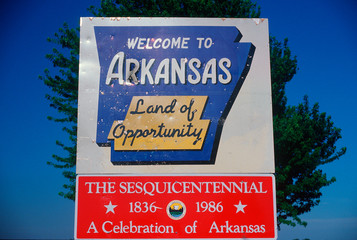 Wall Mural - Welcome to Arkansas Sign