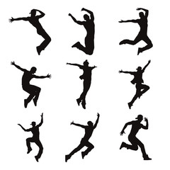 Contemporary Male Dancer Silhouettes