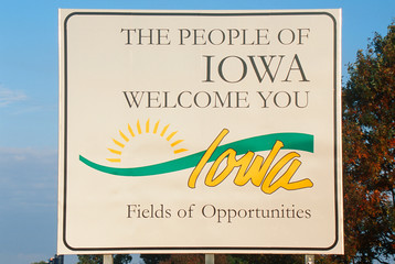 Wall Mural - Welcome to Iowa Sign