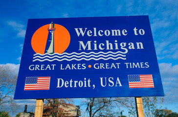 Wall Mural - Welcome to Michigan Sign