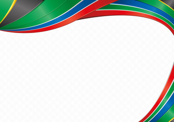 Abstract background with shapes with the colors of the flag of South Africa to use as Diploma or Certificate