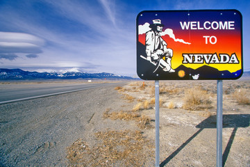 Wall Mural - Welcome to Nevada Sign