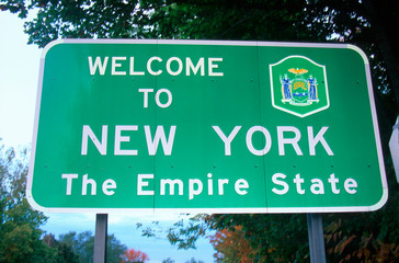 Wall Mural - Welcome to New York Sign