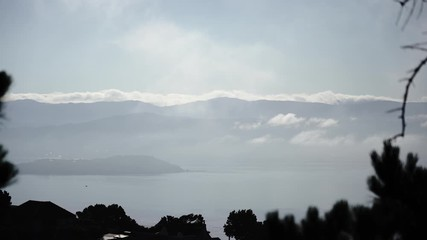 Fotomurales - Wellington in a foggy day, New Zealand