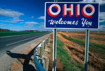 Wall Mural - Welcome to Ohio Sign