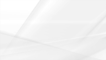 Fotobehang - White and grey smooth stripes abstract minimal geometric motion background. Video animation Ultra HD 4K 3840x2160