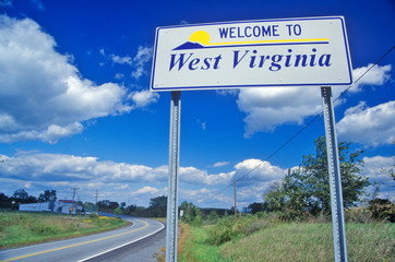 Wall Mural - Welcome to West Virginia Sign